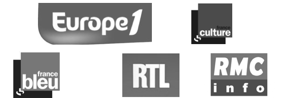 Europe 1, RTL, RMC Info, France Culture, France Bleu